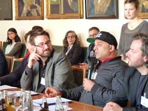 Nicolas Flessa und Hammed Khamis bei der Bekanntgabe der Nominierungen für den GOA 2016
