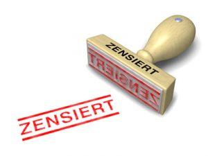 Stempel ZENSIERT