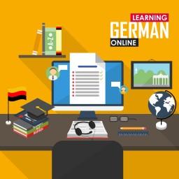 """<span style=""""color: #55d6d2;"""">Deutsch lernen und weiterbilden</span>"""
