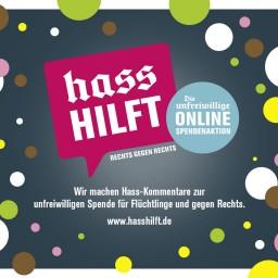 """<span style=""""color: #55d6d2;"""">Hass und Hetze entgegentreten</span>"""